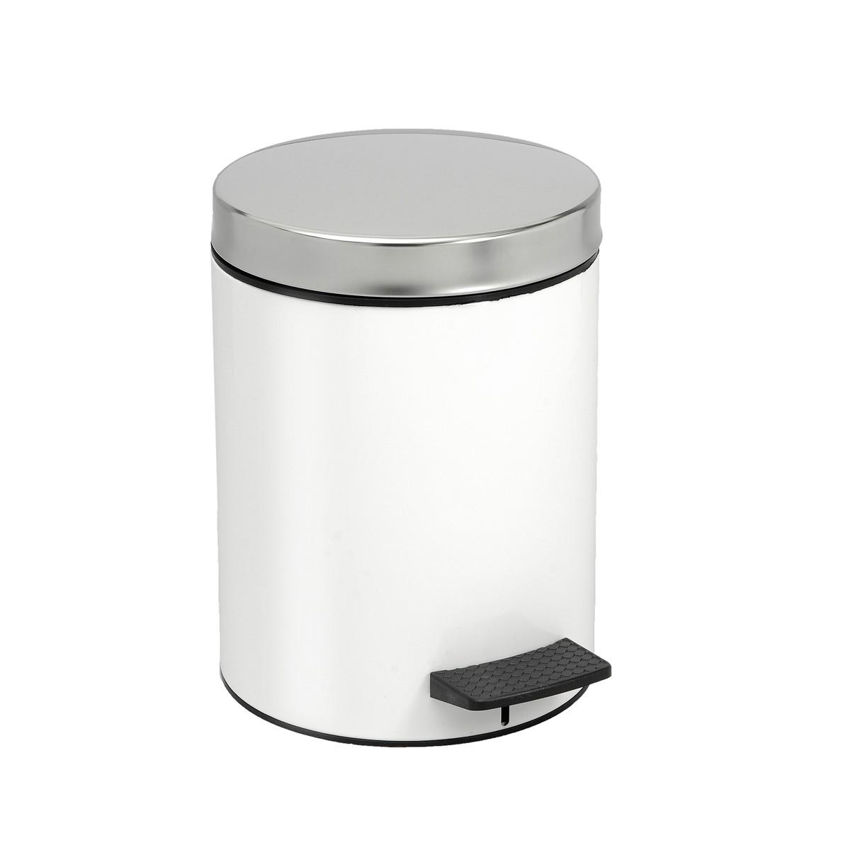 Κάδος Απορριμάτων (20×28) PamCo 5Lit 126 White