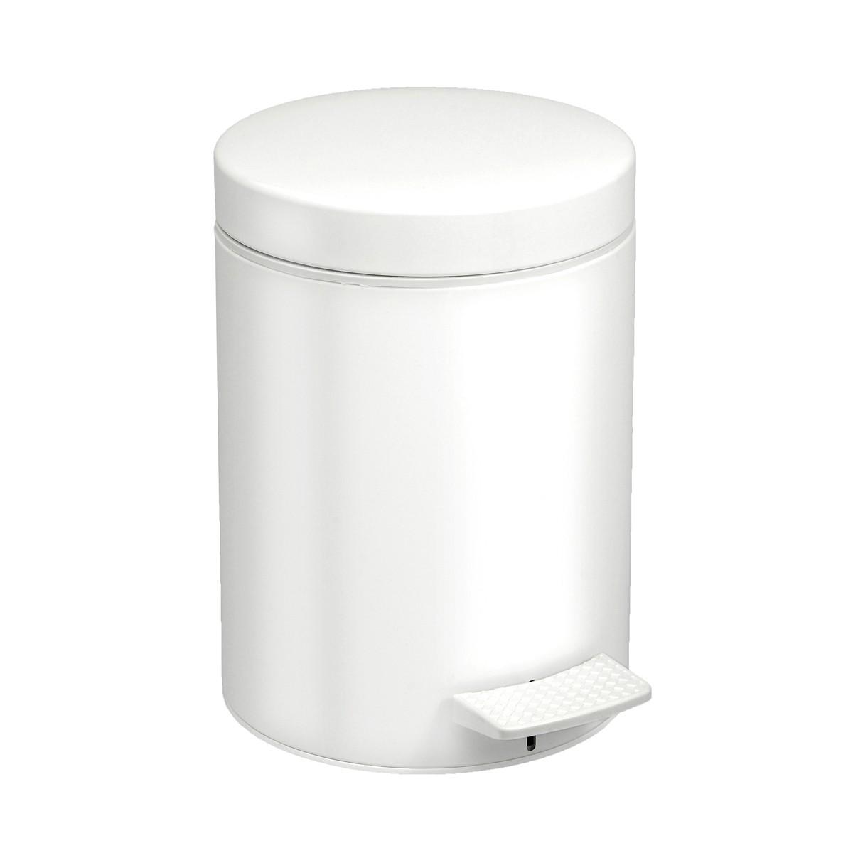 Κάδος Απορριμάτων (20x28) PamCo 5Lit 05-096-033 White Matte