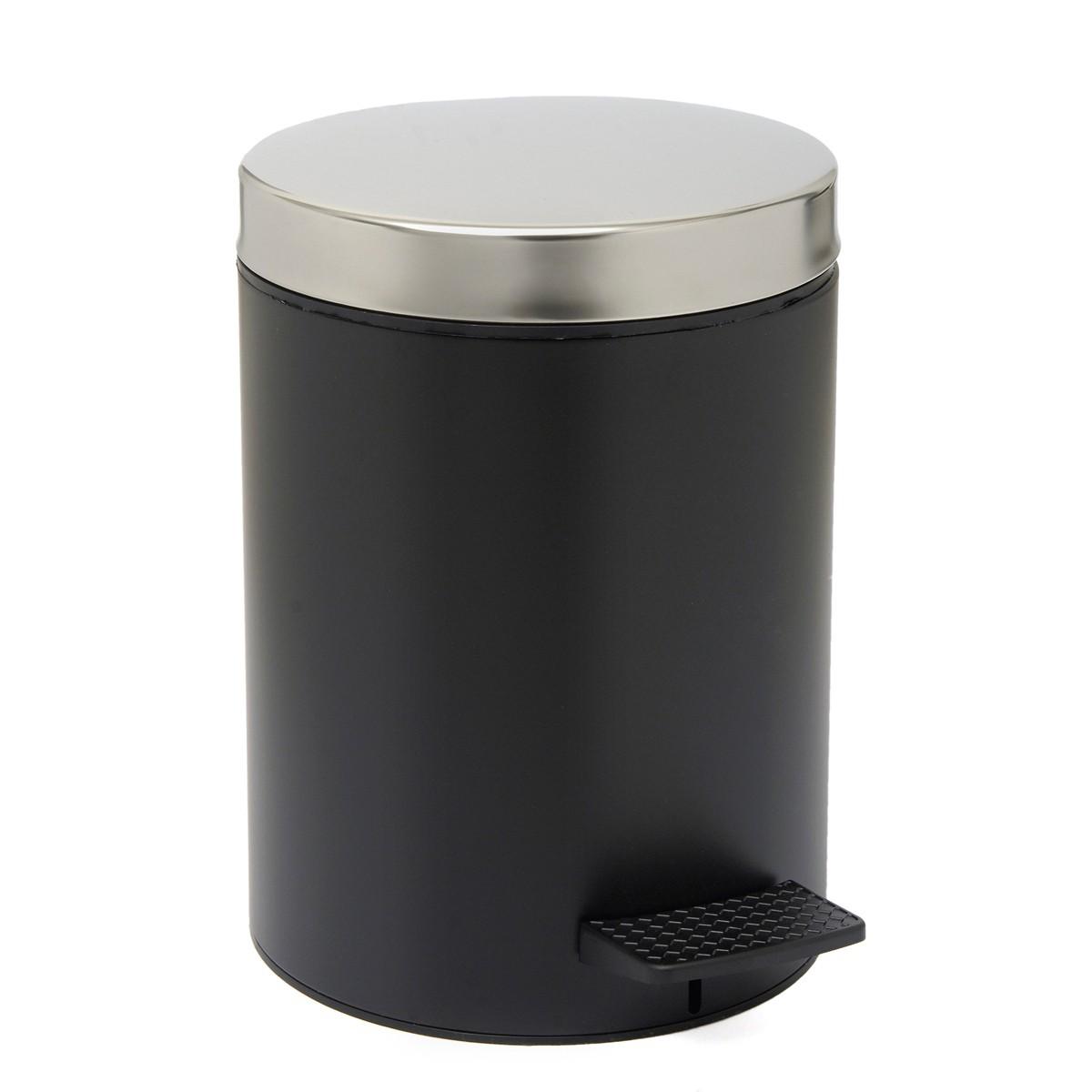 Κάδος Απορριμάτων (20×28) PamCo 5Lit 126 Black Matte