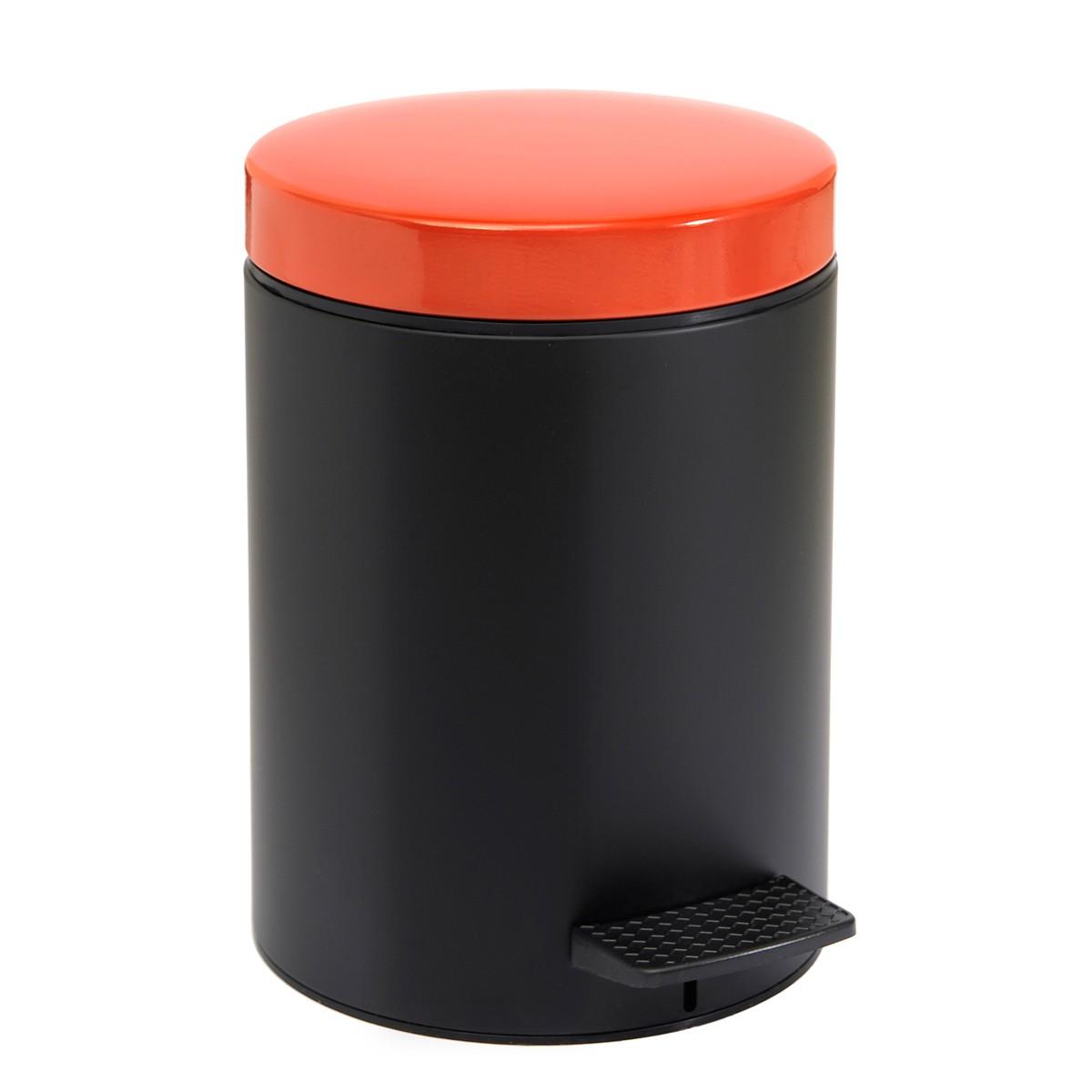Κάδος Απορριμάτων (20×28) PamCo 5Lit 403 Black/Red Matte