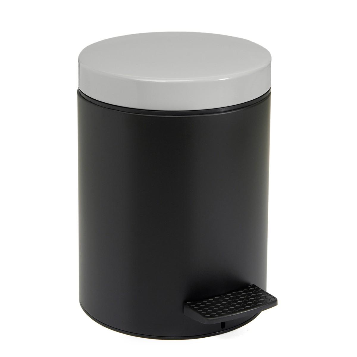 Κάδος Απορριμάτων (20x28) PamCo 5Lit 403 Black/Grey