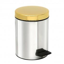 Κάδος Απορριμάτων (20x28) PamCo 5Lit 415 Inox/Gold