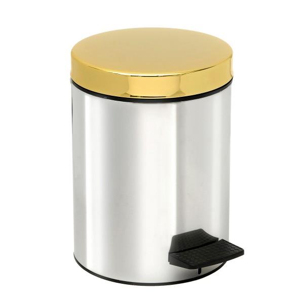 Κάδος Απορριμμάτων (20x28) PamCo 5Lit 415 Inox/Gold