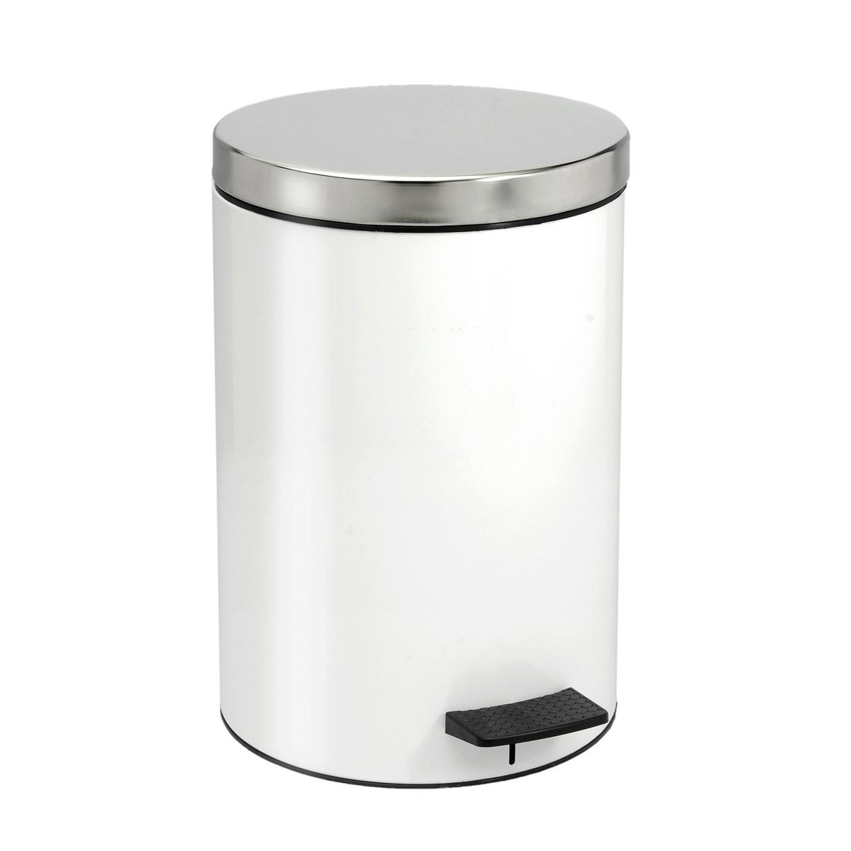 Κάδος Απορριμάτων (25x40) PamCo 12Lit 125 White
