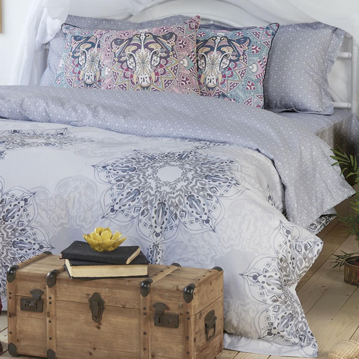 Σεντόνια Υπέρδιπλα (Σετ) Kentia Stylish Mandala 32 home   κρεβατοκάμαρα   σεντόνια   σεντόνια υπέρδιπλα