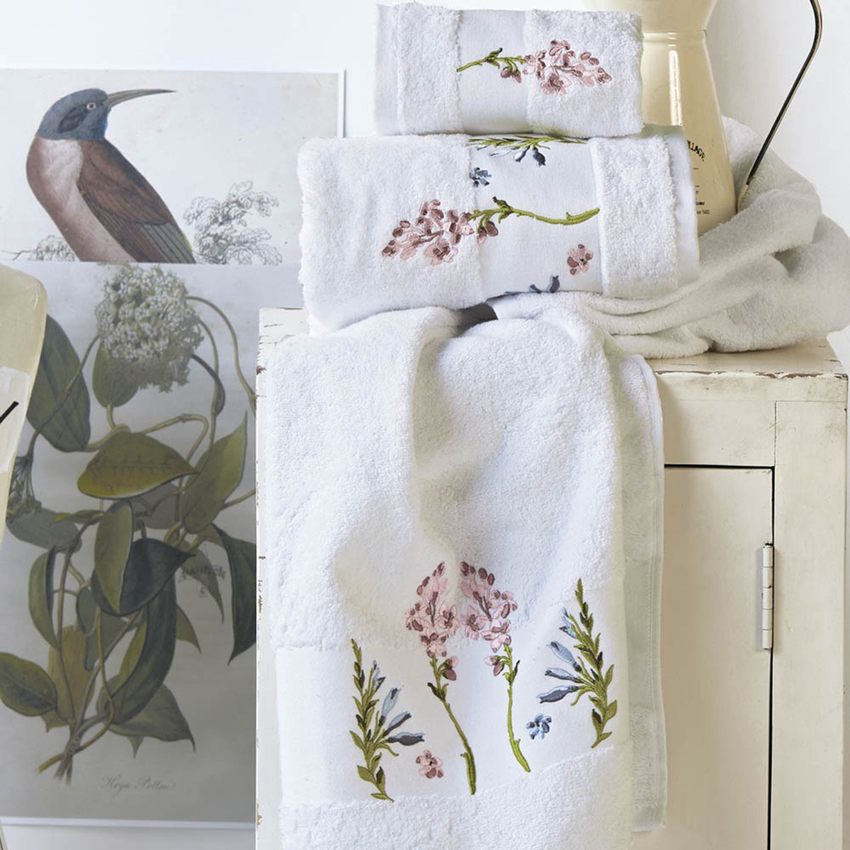Πετσέτες Μπάνιου (Σετ 3τμχ) Kentia Bath Botanical 00
