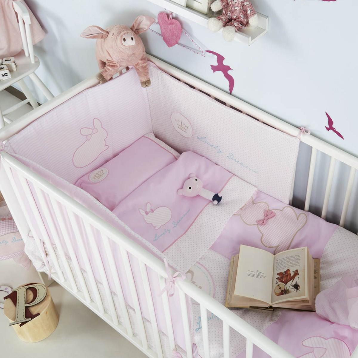 Σετ Κούνιας 4τμχ Kentia Baby Rabbit 65783