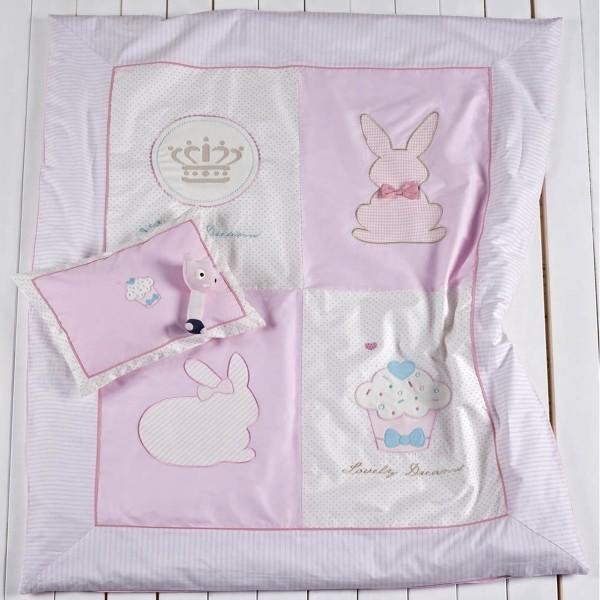 Παπλωματοθήκη Κούνιας (Σετ 4τμχ) Kentia Baby Rabbit 14