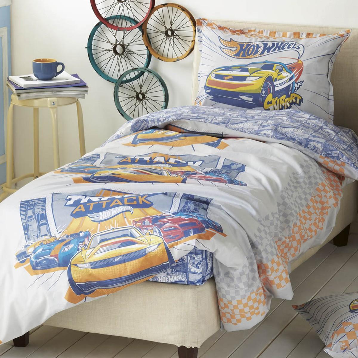 Σεντόνια Μονά (Σετ) Kentia Kids Hot Wheels 513