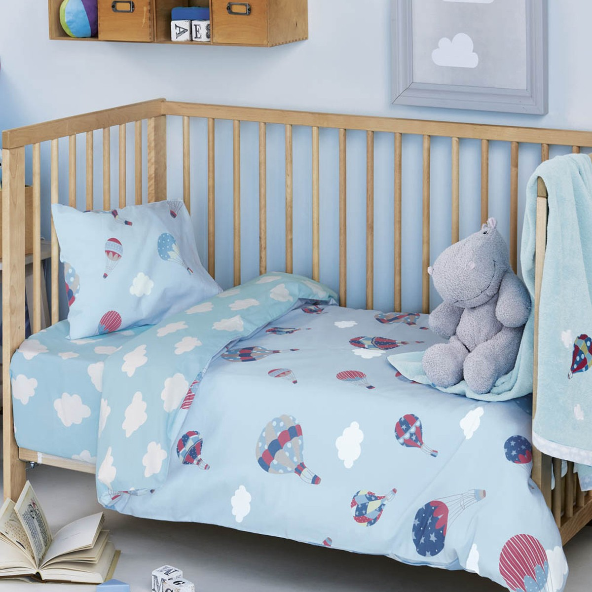 Παπλωματοθήκη Κούνιας (Σετ) Kentia Baby Vento 65814