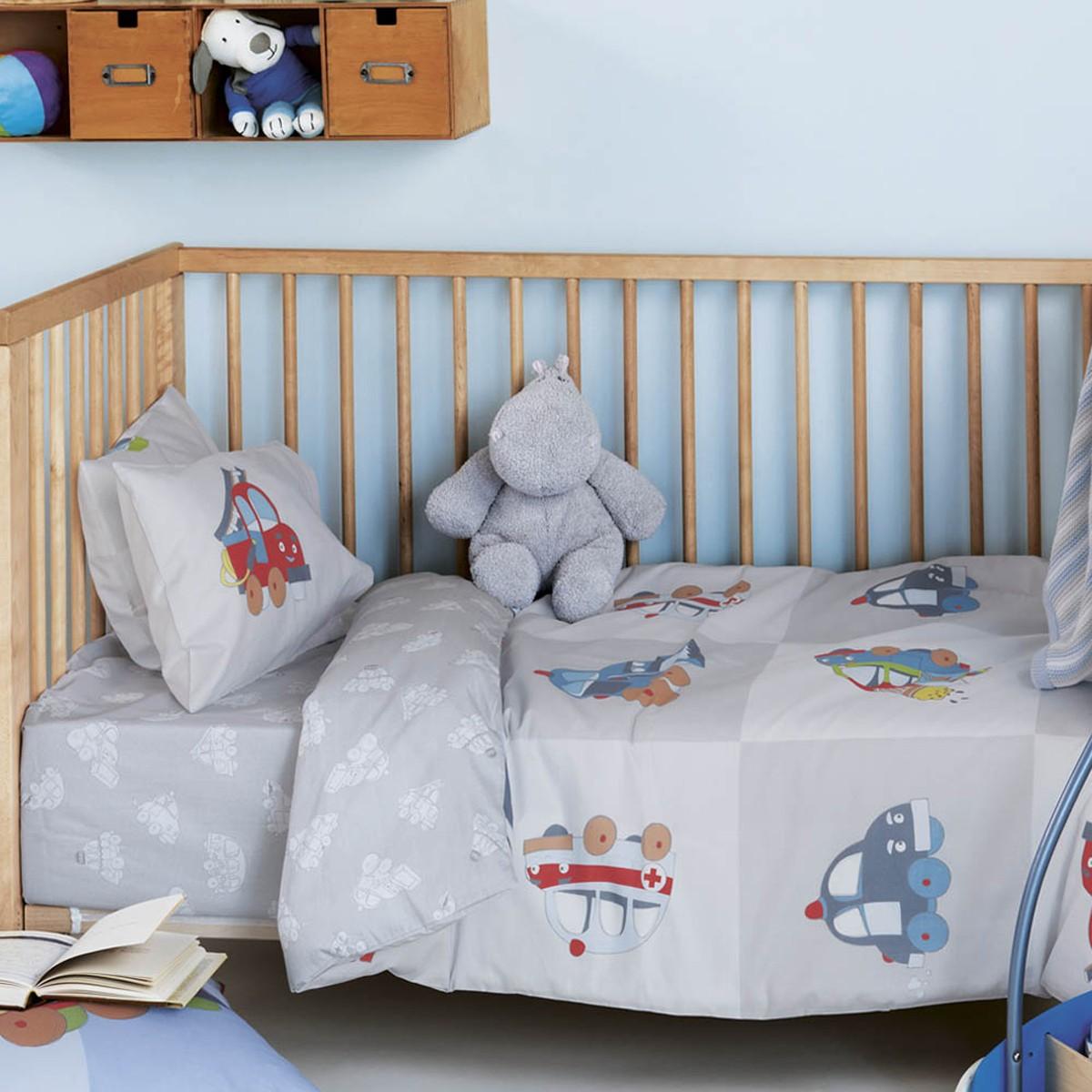 Παπλωματοθήκη Κούνιας (Σετ) Kentia Baby Vroom 65816