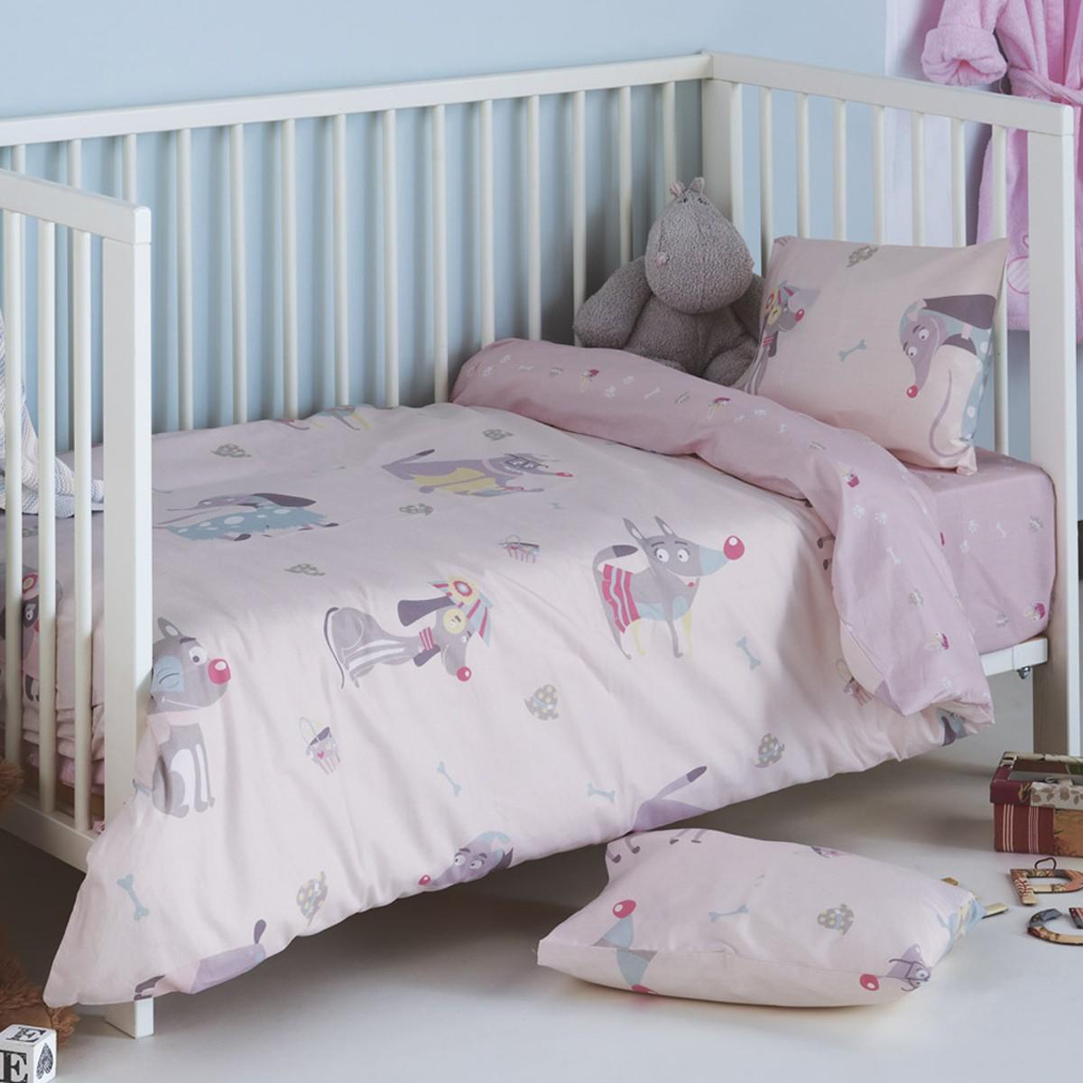 Παπλωματοθήκη Κούνιας (Σετ) Kentia Baby Woofy