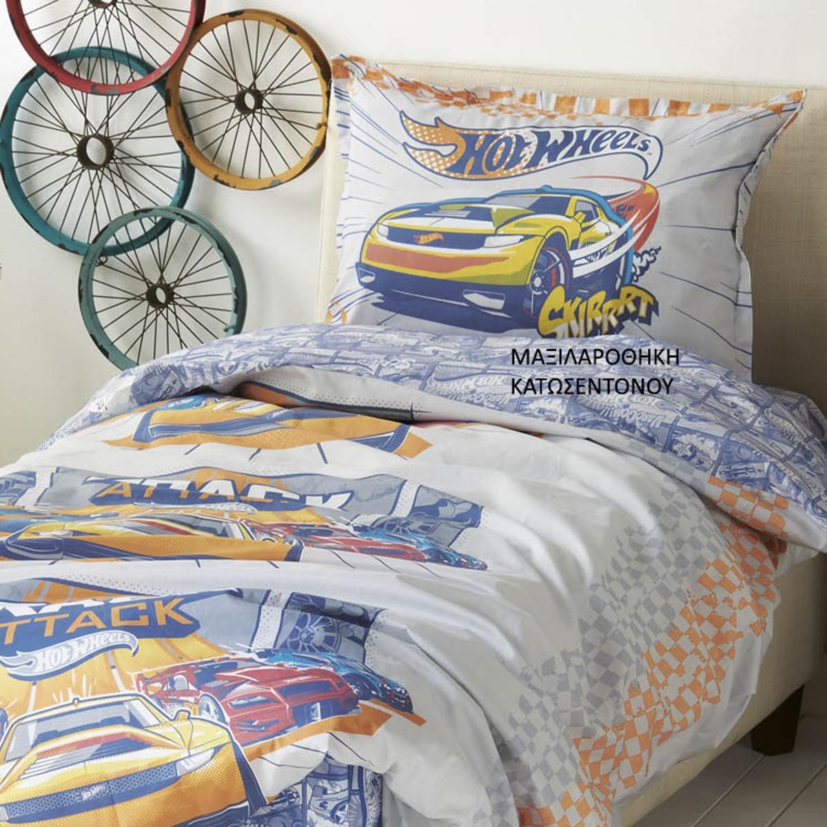 Μαξιλαροθήκη Κατωσέντονου Kentia Kids Hot Wheels 513
