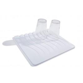 Χαλάκι Νεροχύτη Dimitracas Stripes 06014 Λευκό