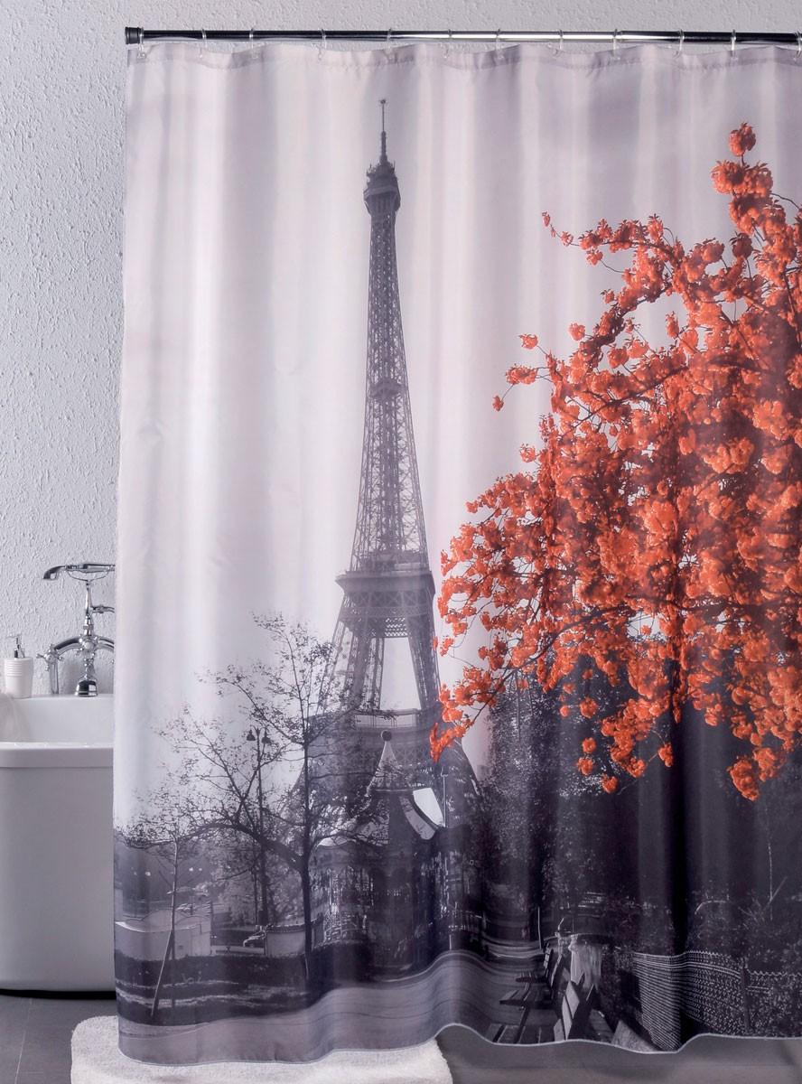 Κουρτίνα Μπάνιου Υφασμάτινη Rainbow Paris 02422