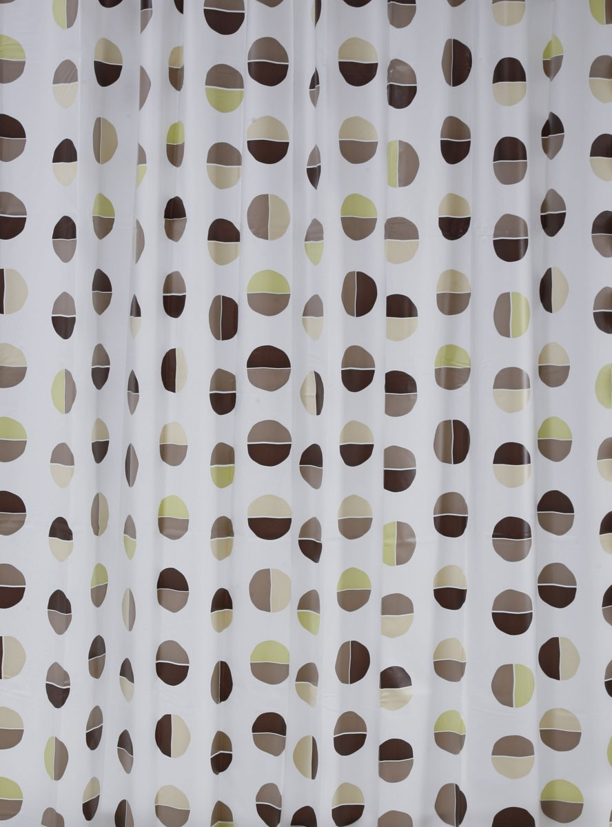 Κουρτίνα Μπάνιου Πλαστική Green Style Diviso Natural 00845