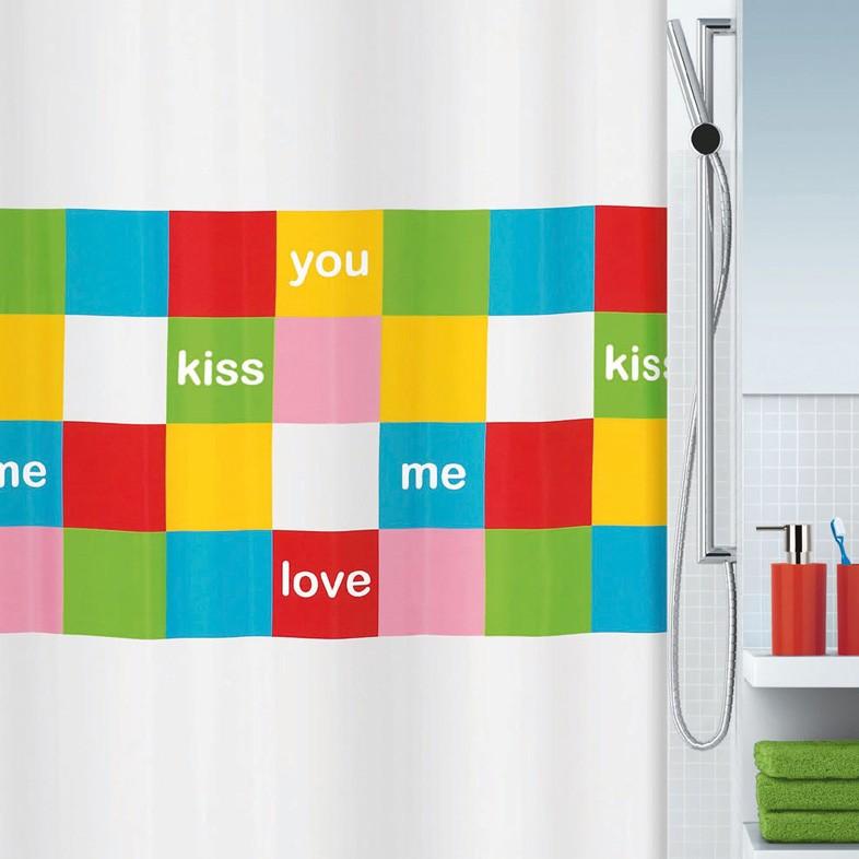 Κουρτίνα Μπάνιου (180x200) Rainbow Love 02121