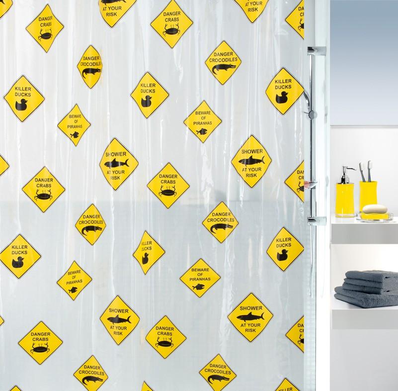 Κουρτίνα Μπάνιου Πλαστική (180×200) Green Style Danger 00798 66413