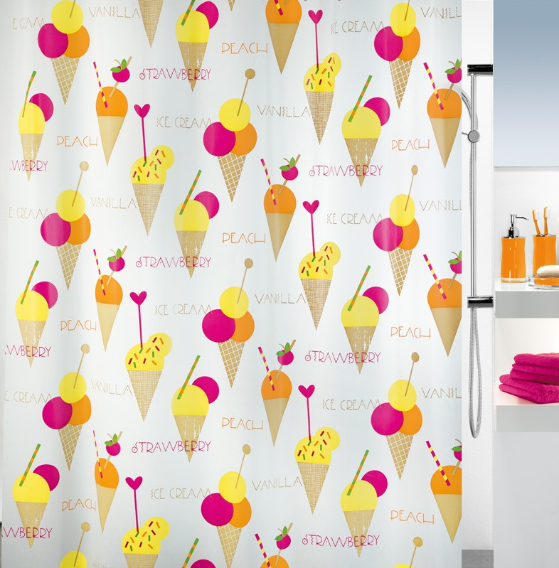 Κουρτίνα Μπάνιου Πλαστική (180×200) Spirella Ice Cream 00841