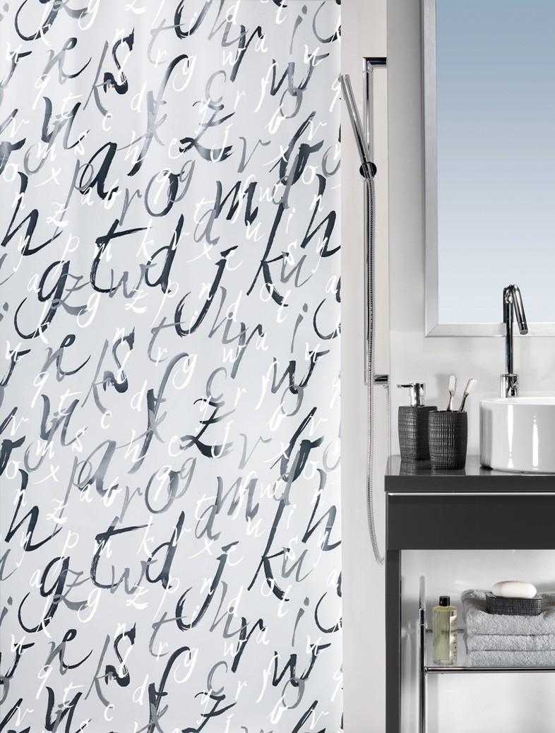 Κουρτίνα Μπάνιου Πλαστική (180x200) Green Style Quotes 00858