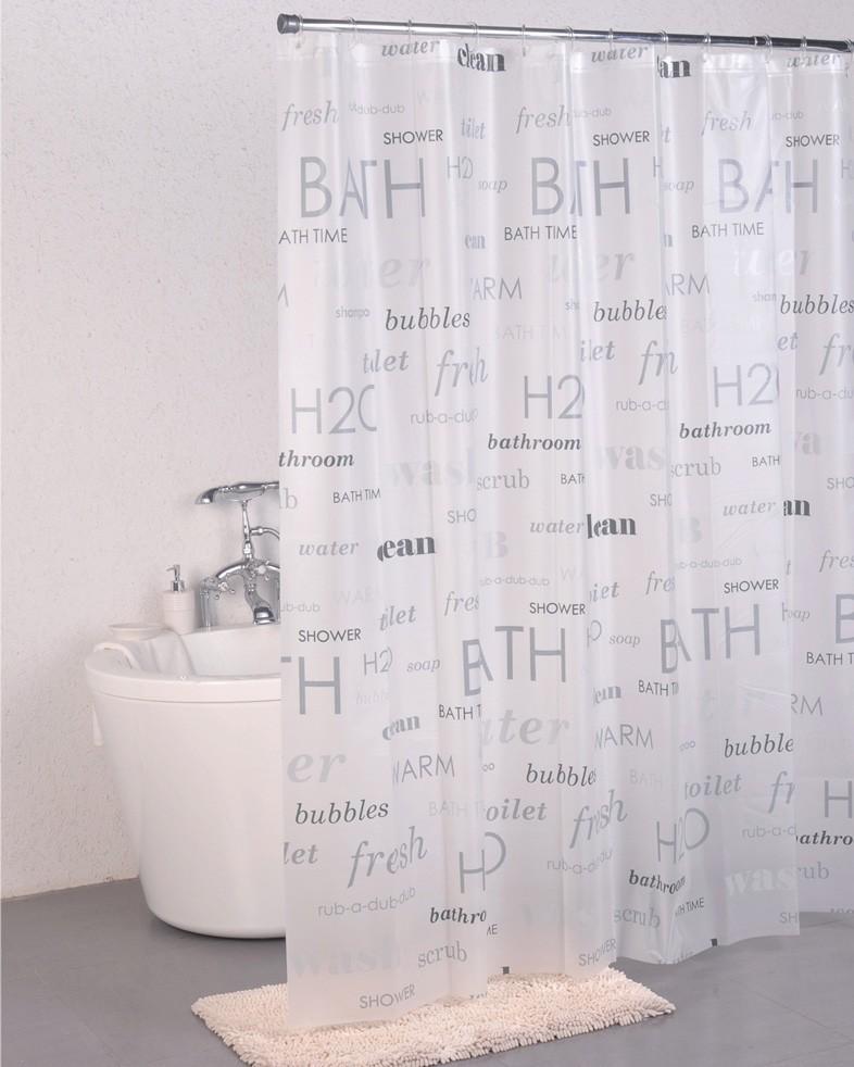 Κουρτίνα Μπάνιου Πλαστική (180x200) Green Style Words 00934