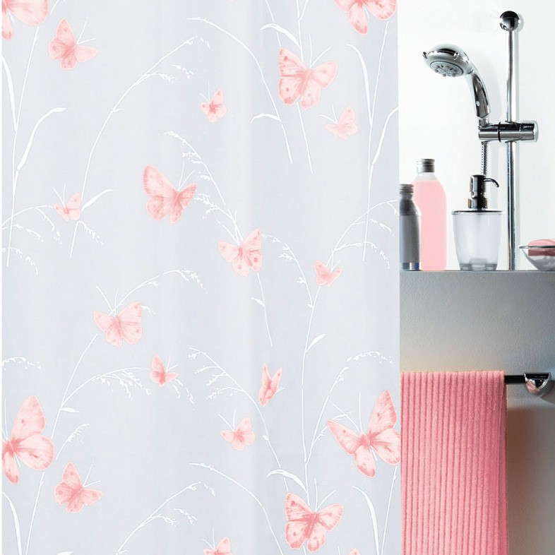 Κουρτίνα Μπάνιου Πλαστική 180×200 Green Style Flyaway Rose 00854