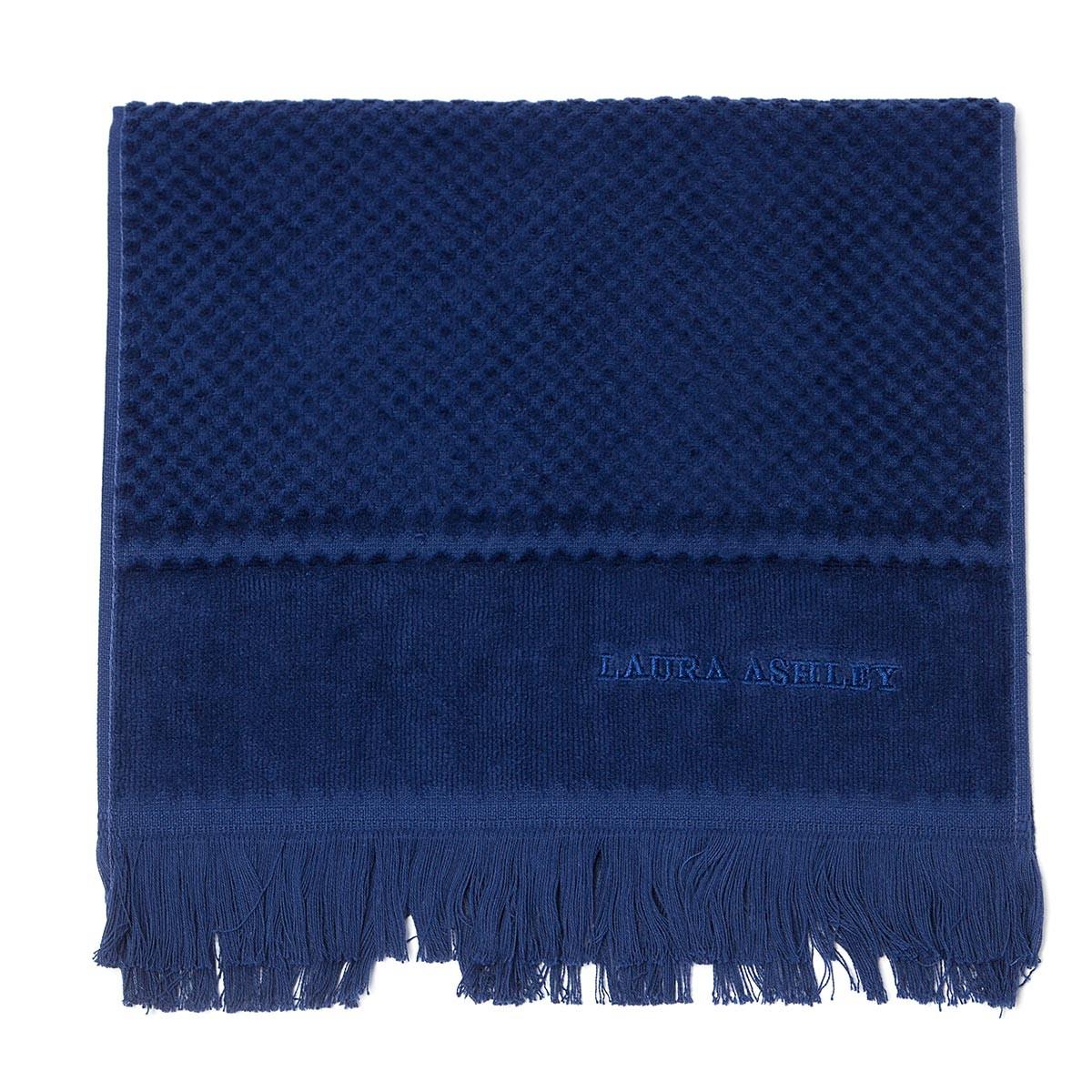 Πετσέτα Χεριών (30×50) Laura Ashley Fringes Navy