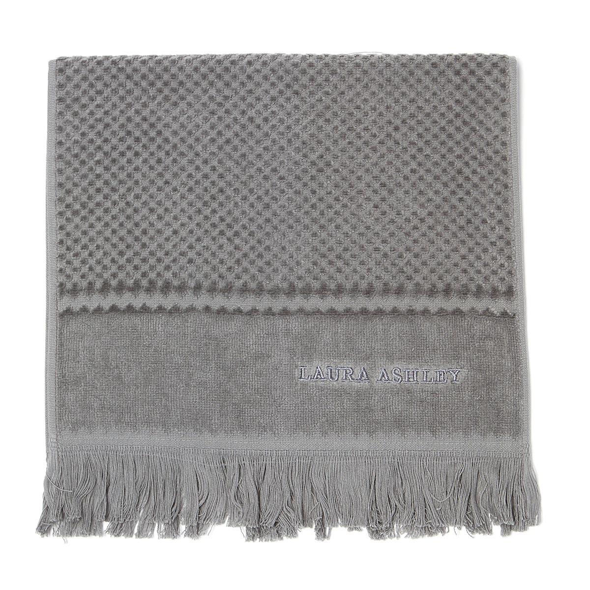 Πετσέτα Χεριών (30×50) Laura Ashley Fringes Grey