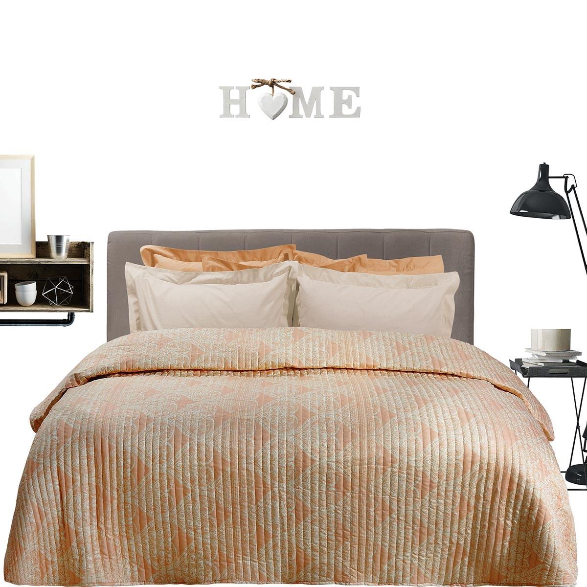Κουβερλί Υπέρδιπλο Das Home Happy Prints 9351 Iron Free