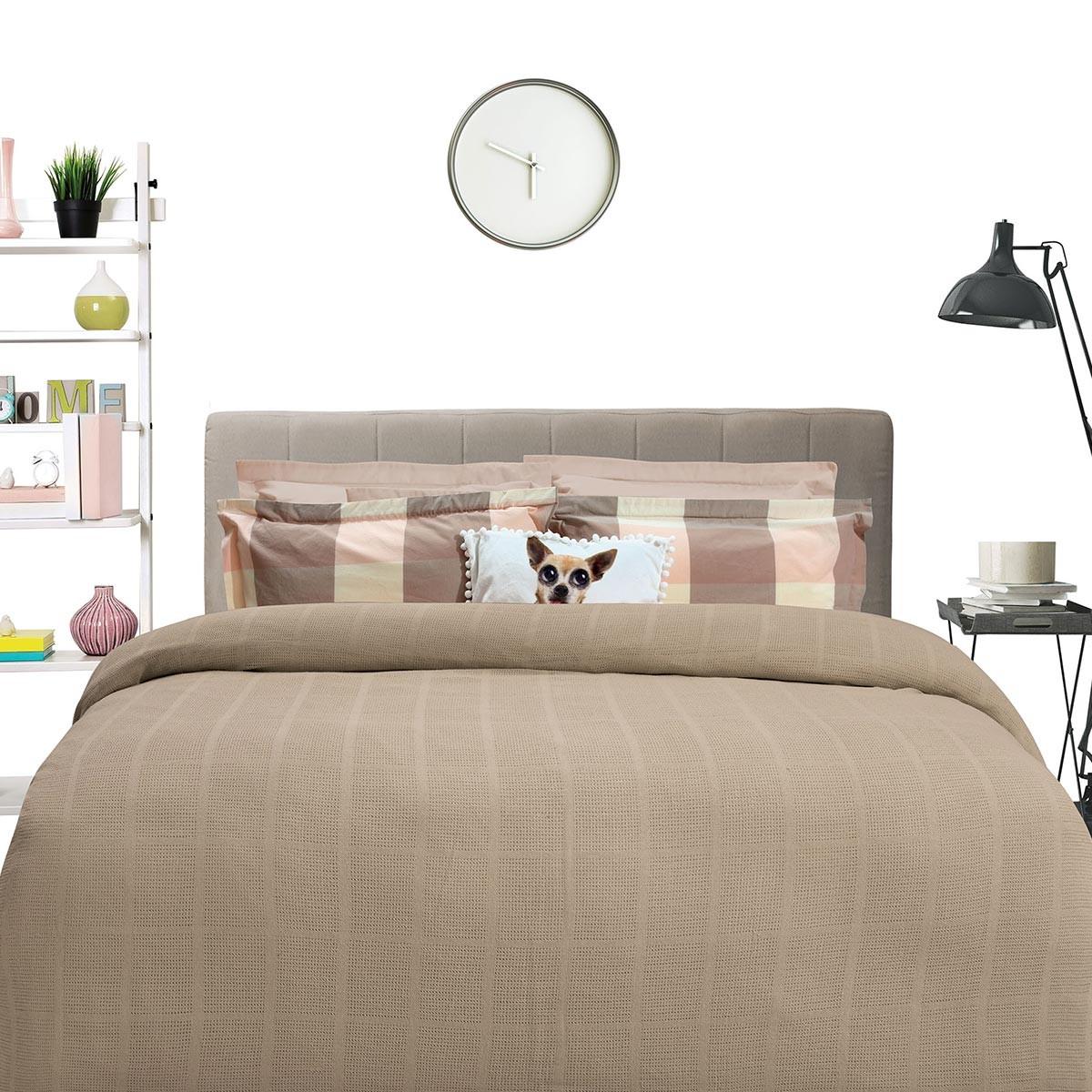 Κουβέρτα Πλεκτή Μονή Das Home Blanket Line 374