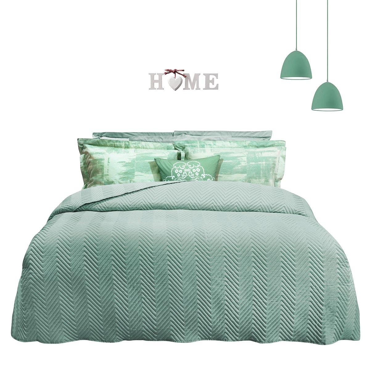 Κουβερλί Υπέρδιπλο Das Home Happy Colours 9355 Iron Free 66604