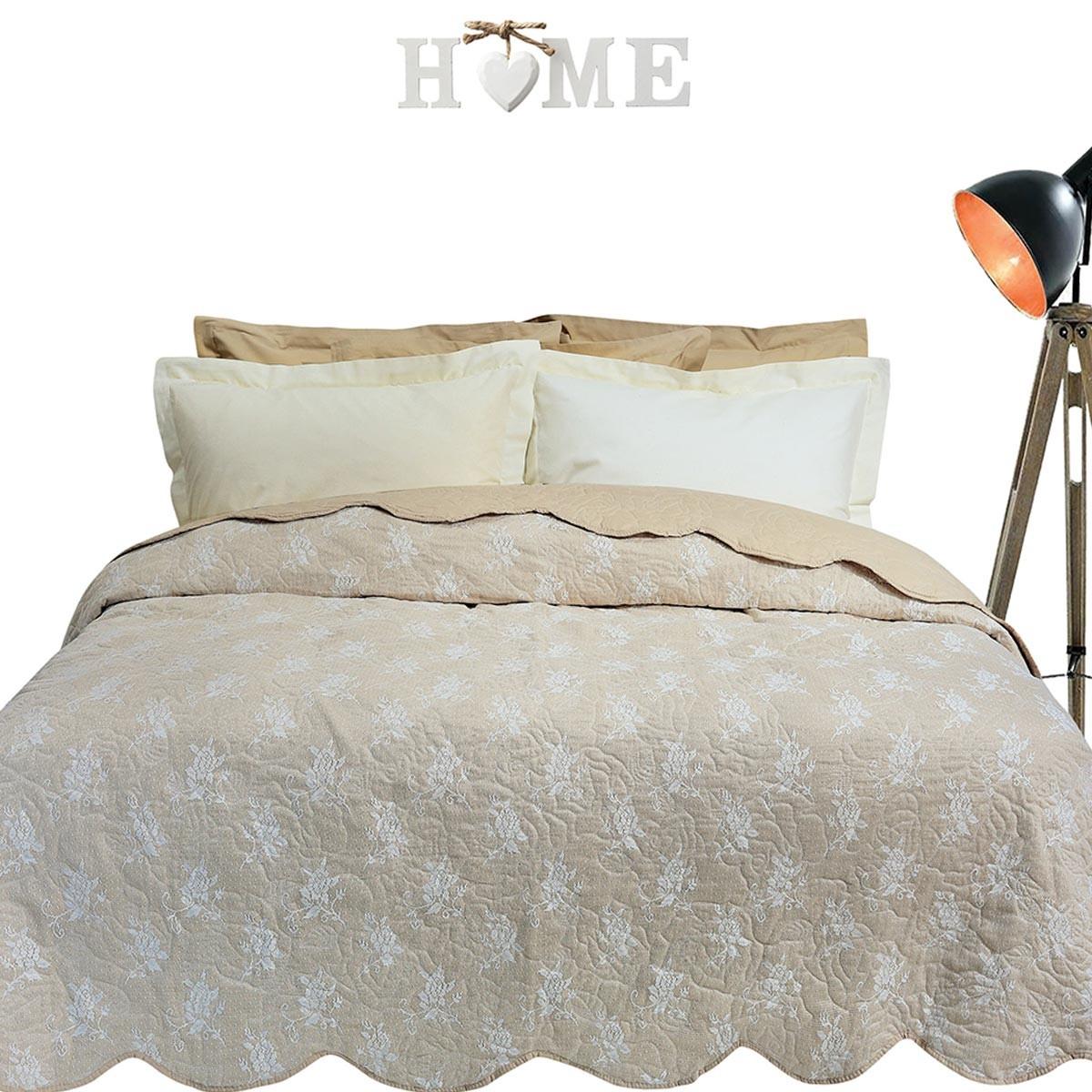 Κουβερλί Υπέρδιπλο Das Home Happy Lace 9360 Iron Free