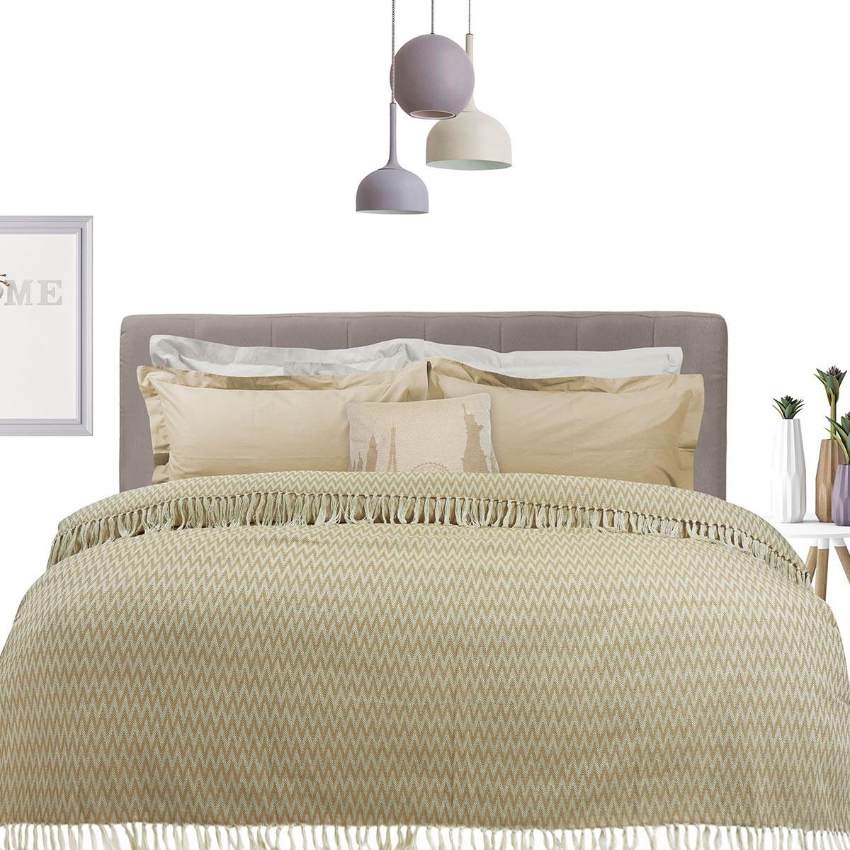 Κουβερτόριο Μονό Das Home Blanket Line Jacquard 380 66681