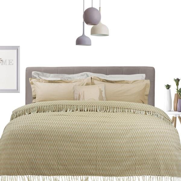 Κουβερτόριο Υπέρδιπλο Das Home Blanket Line Jacquard 380