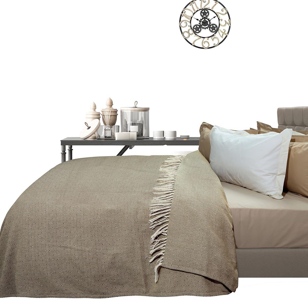 Κουβερτόριο Υπέρδιπλο Das Home Blanket Line Jacquard 383
