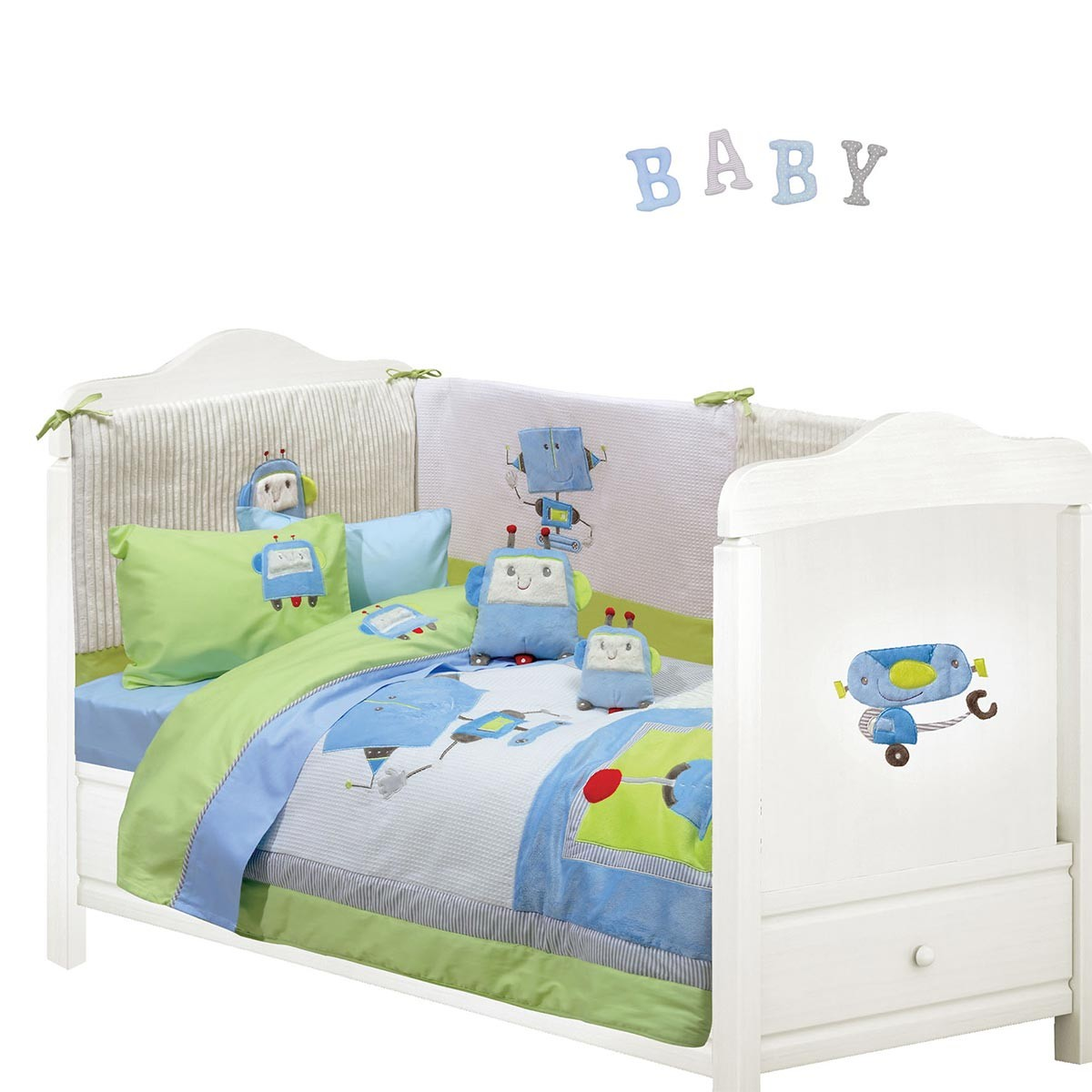 Σεντόνια Κούνιας (Σετ) Das Home Dream Embroidery 6397 66770