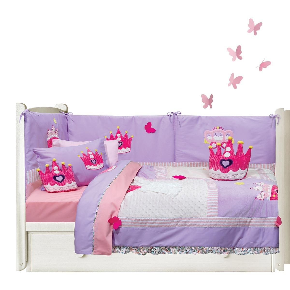 Σεντόνια Κούνιας (Σετ) Das Home Dream Embroidery 6398