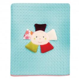 Κουβέρτα Πικέ Κούνιας Das Home Dream Embroidery 6396