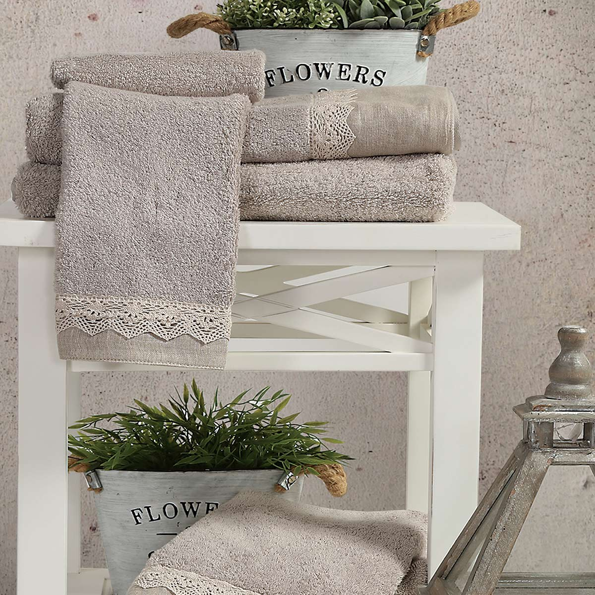 Πετσέτες Μπάνιου (Σετ 3τμχ) Nef-Nef Bath Angelica