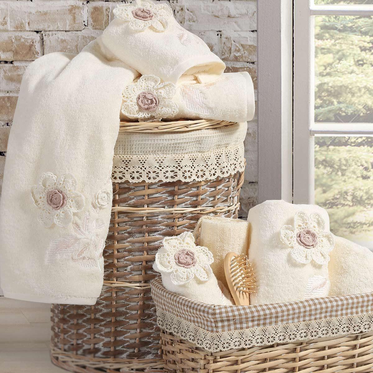 Πετσέτες Μπάνιου (Σετ 3τμχ) Nef-Nef Bath Madison Flower 67440