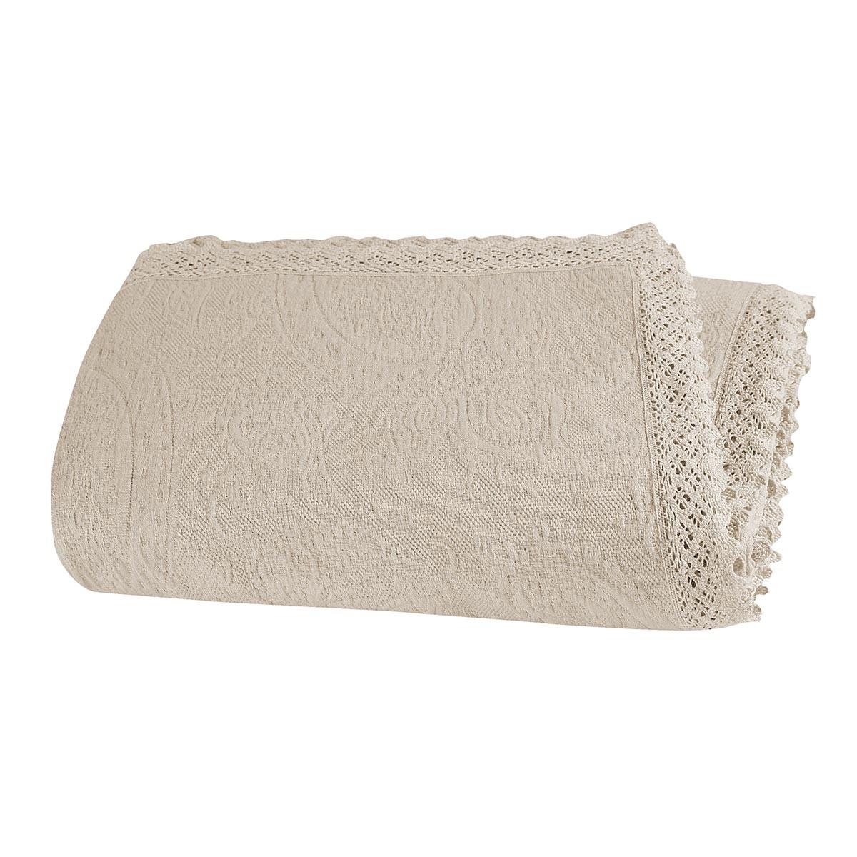 Κουβερτόριο Υπέρδιπλο Nef-Nef Abigail Ecru home   κρεβατοκάμαρα   κουβέρτες   κουβέρτες καλοκαιρινές υπέρδιπλες