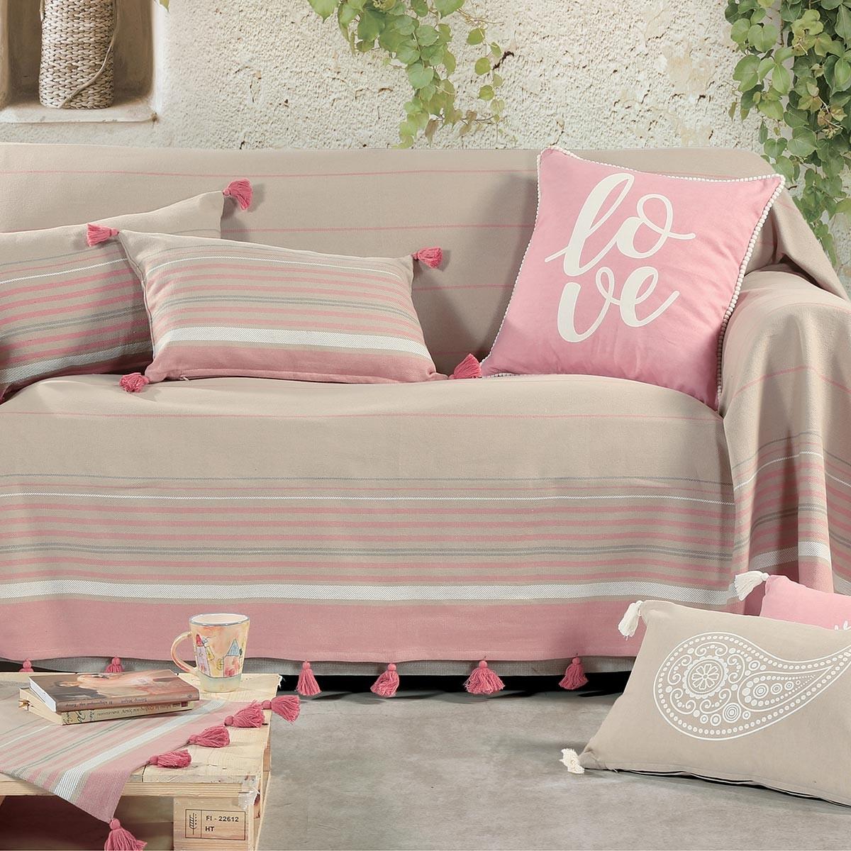Ριχτάρι Τριθέσιου (180x300) Nef-Nef Tampa Pink
