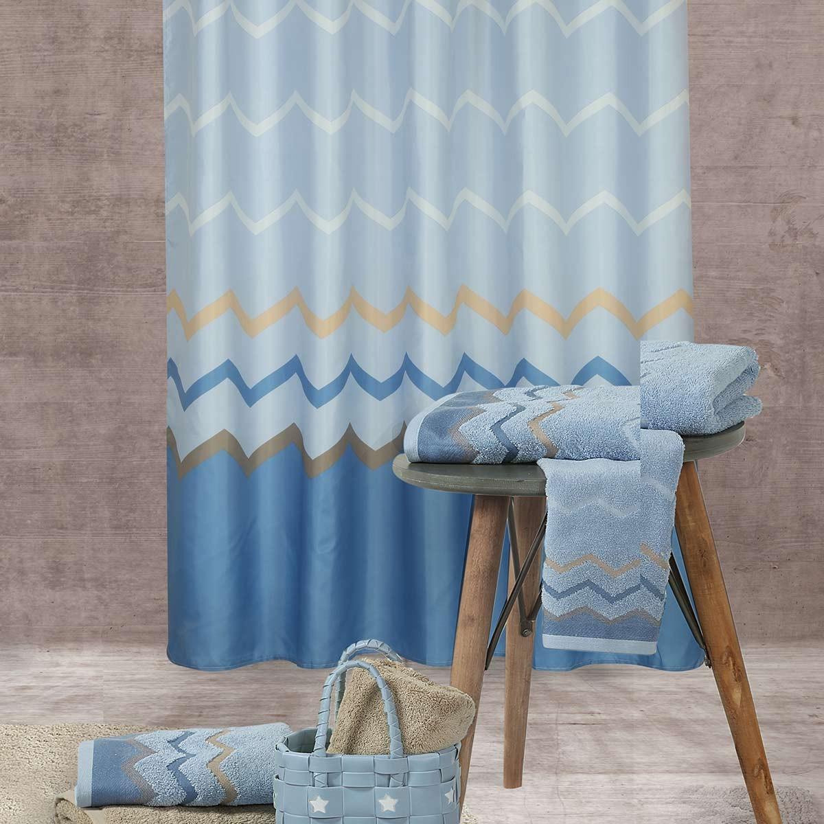 Κουρτίνα Μπάνιου (180x180) Nef-Nef Bath Reidar Blue