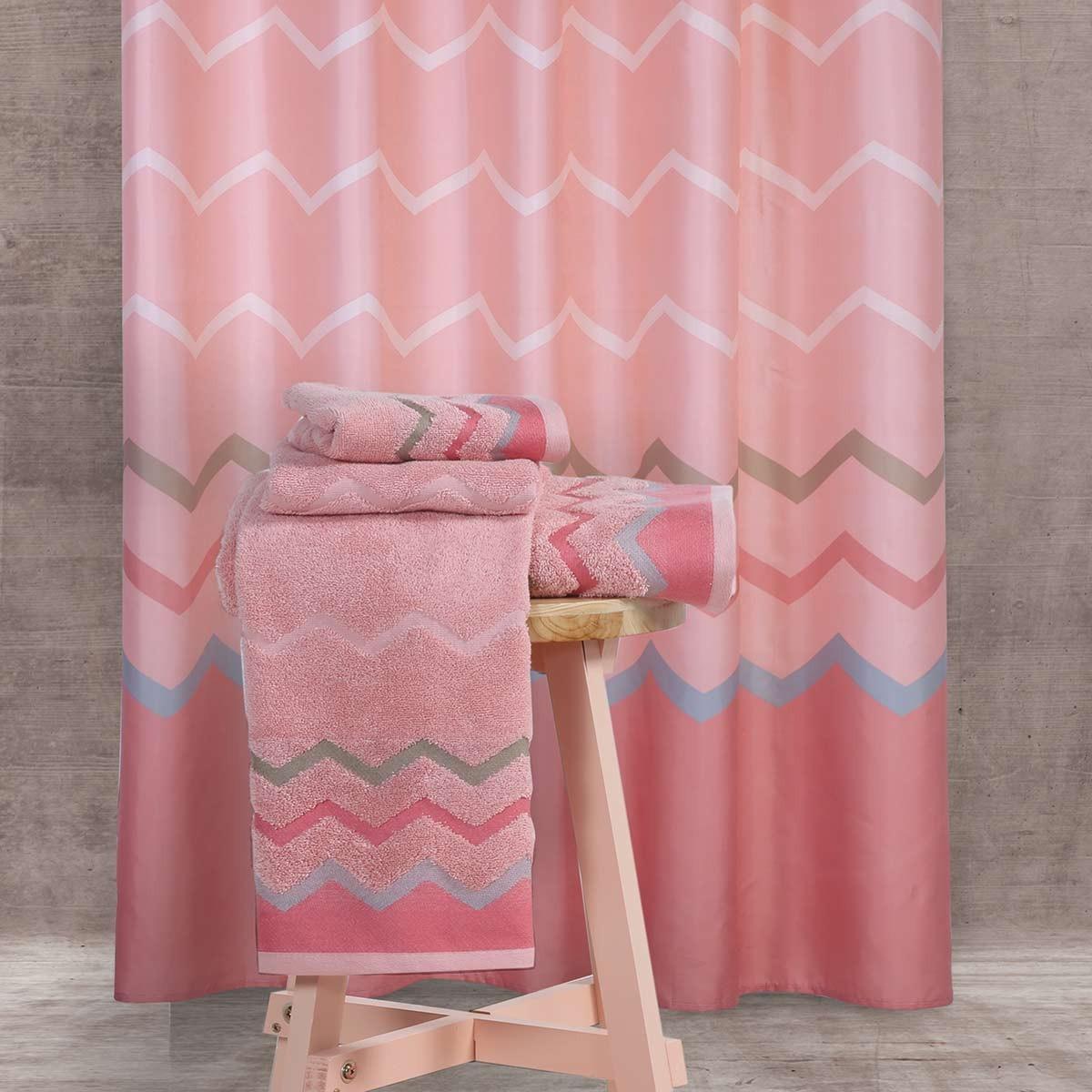 Κουρτίνα Μπάνιου Υφασμάτινη Nef-Nef Bath Reidar Pink