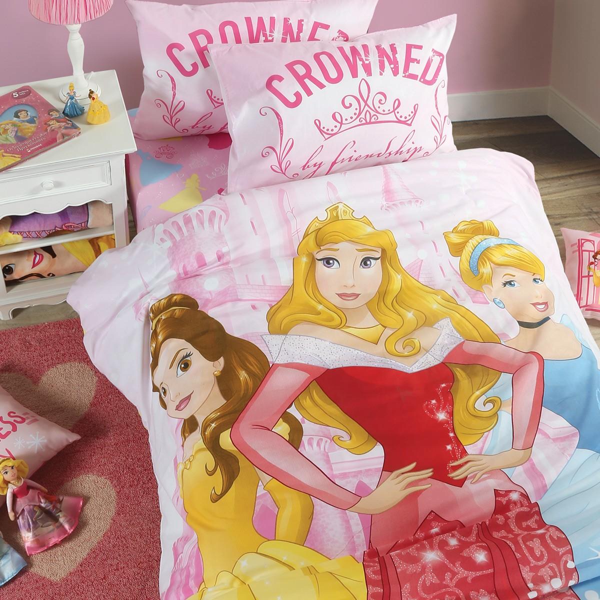 Παπλωματοθήκη Μονή (Σετ) Disney Princess Crew