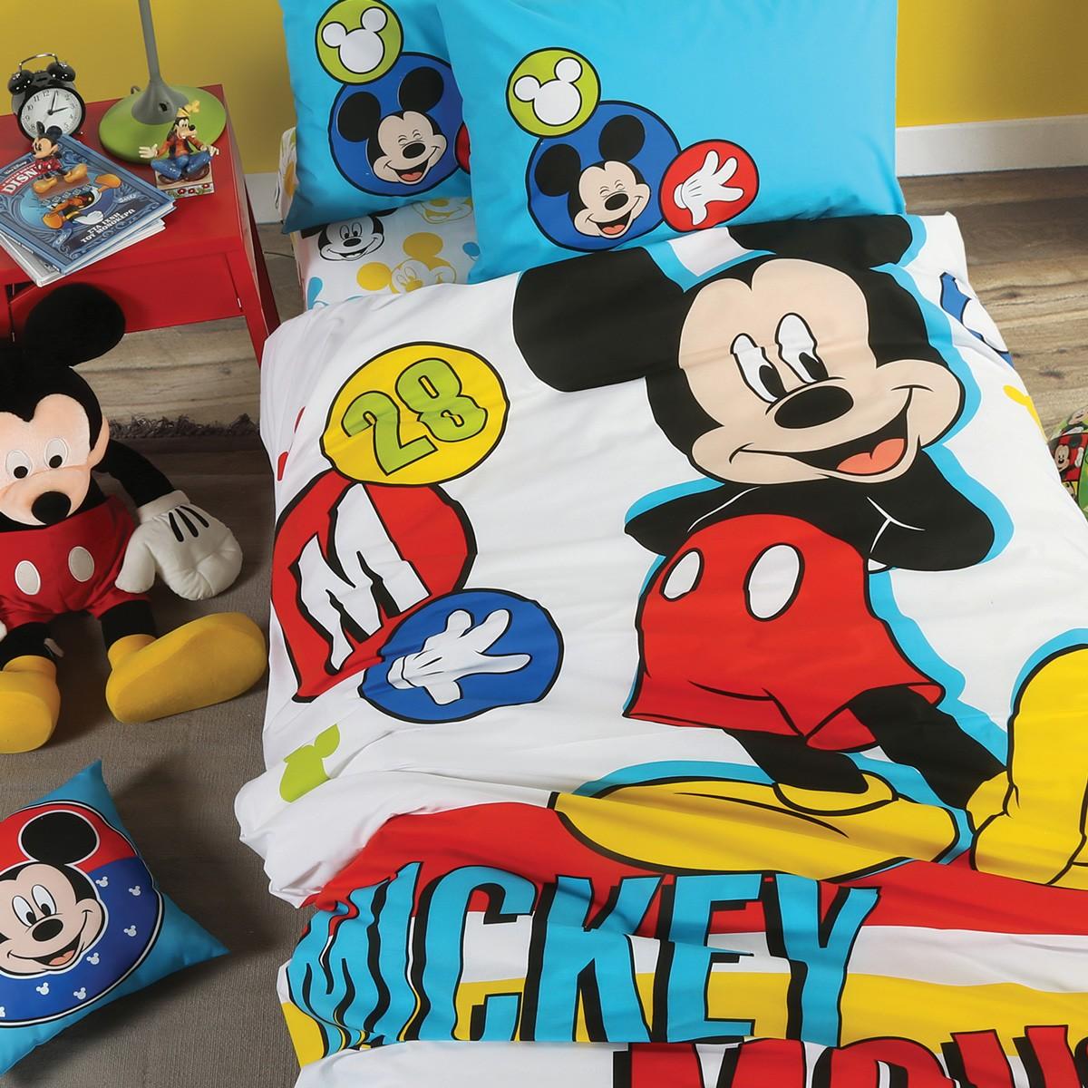 Παπλωματοθήκη Μονή (Σετ) Nef-Nef Disney Mickey Brights