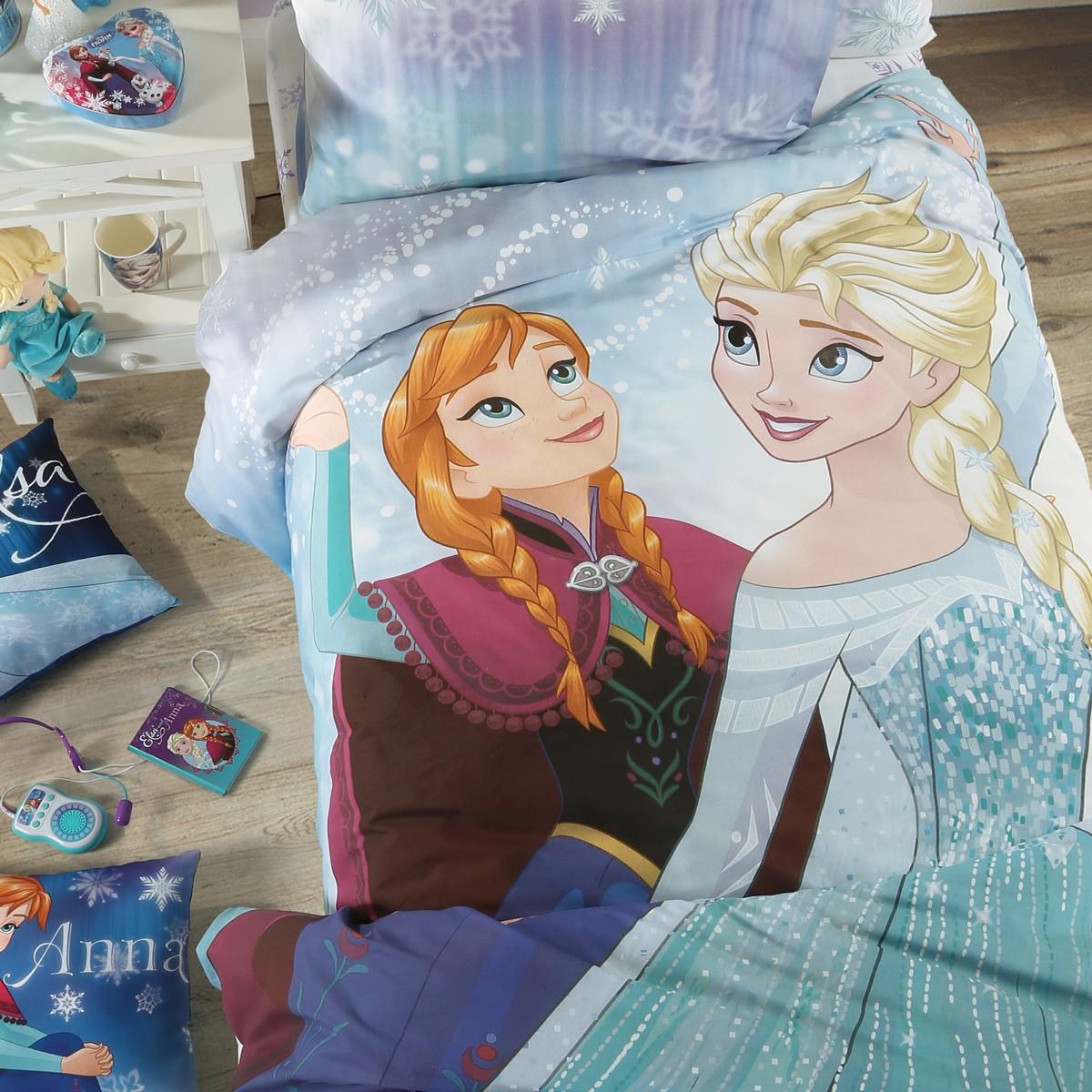 Παπλωματοθήκη Μονή (Σετ) Disney Frozen Lights