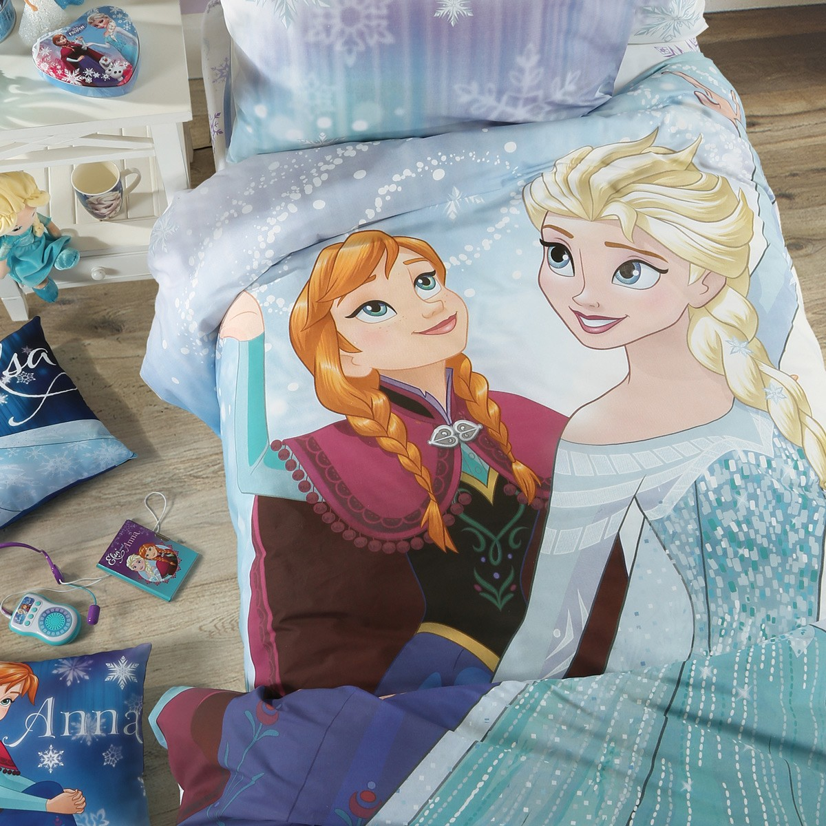 Παπλωματοθήκη Μονή (Σετ) Nef-Nef Disney Frozen Lights