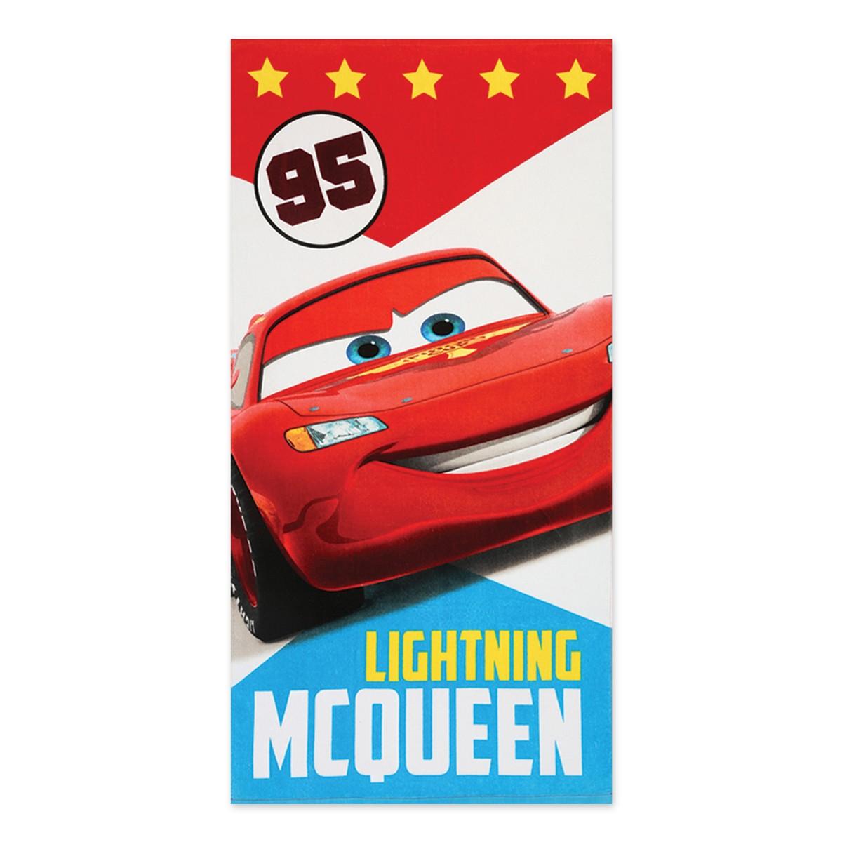 Παιδική Πετσέτα Θαλάσσης Nef-Nef Disney Cars Badge