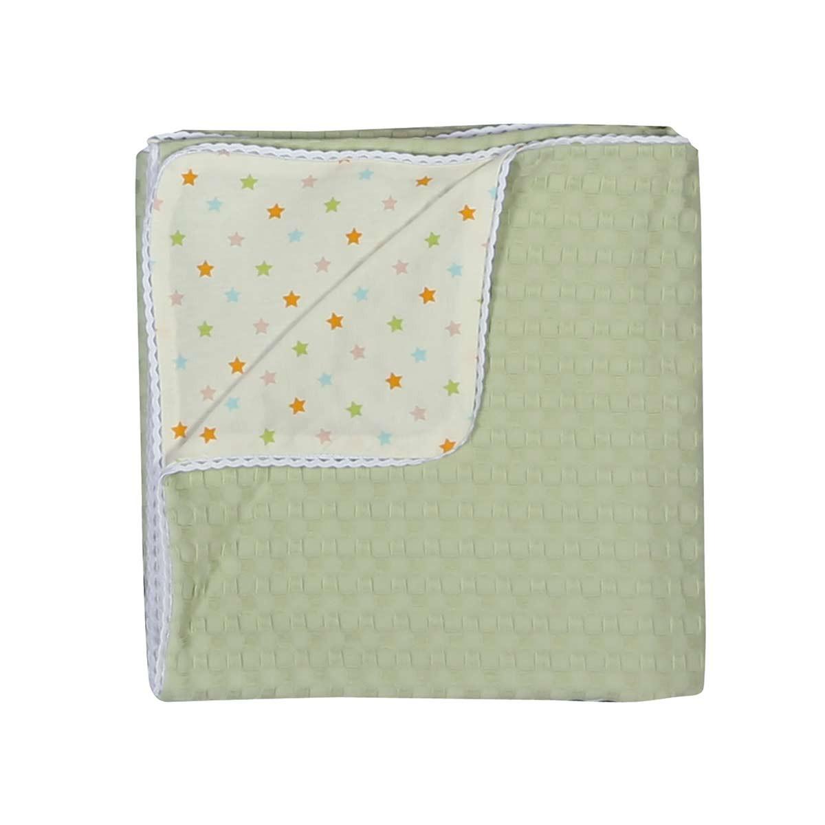Κουβέρτα Πικέ Αγκαλιάς - Jersey Nef-Nef Daily Green